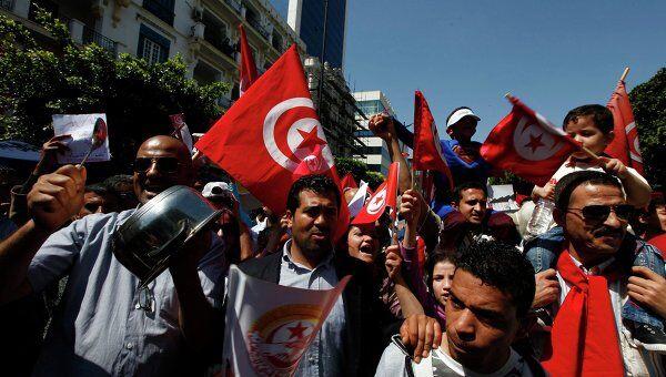 Первомайская демонстрация в Тунисе
