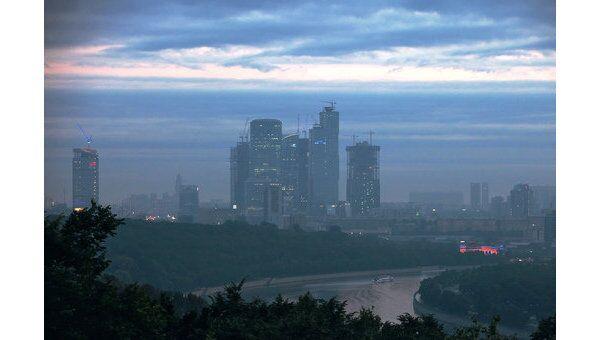 Панорама на город с Воробьевых гор