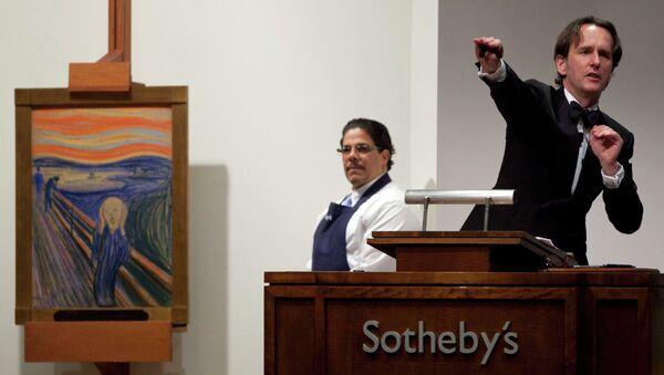 Холст Мунка Крик продан за рекордные $119,9 млн долларов на торгах Sotheby's в Нью-Йорке