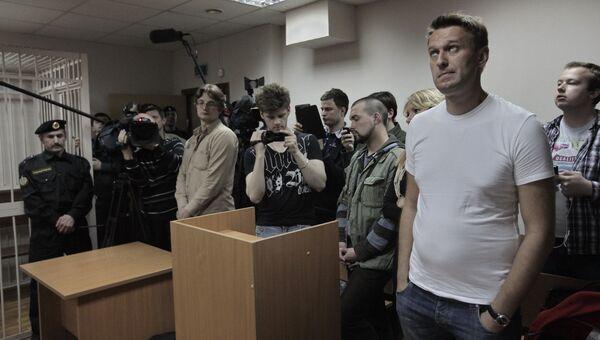 Алексей Навальный на заседании суда