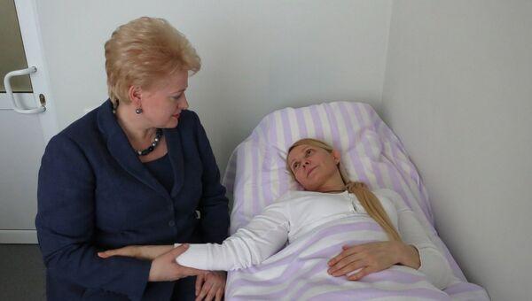 Президент Литовской Республики Даля Грибаускайте посетила Юлию Тимошенко в больнице