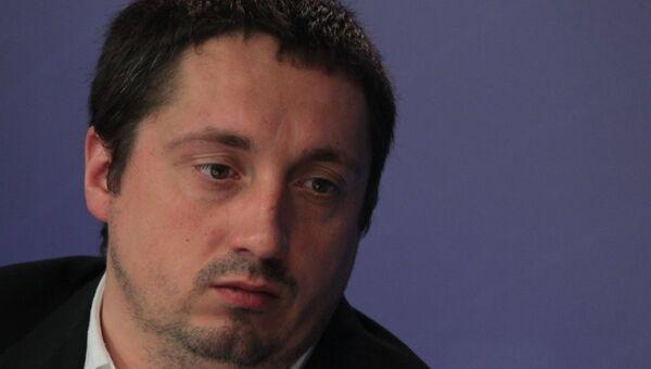 Президент ВОБ Александр Шпрыгин на онлайн-конференции. Архивное фото