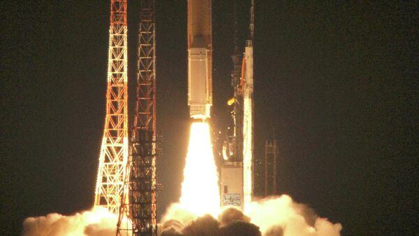 Запуск японской ракеты с космодрома Танэгасима. Архивное фото