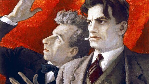 Н.Соколов. В.Маяковский и В.Мейерхольд. 1975 г. Государственный музей В.В.Маяковского в Москве
