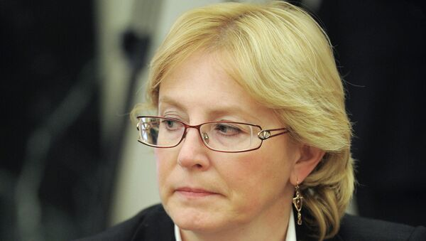Министр здравоохранения Российской Федерации Вероника Скворцова. Архивное фото