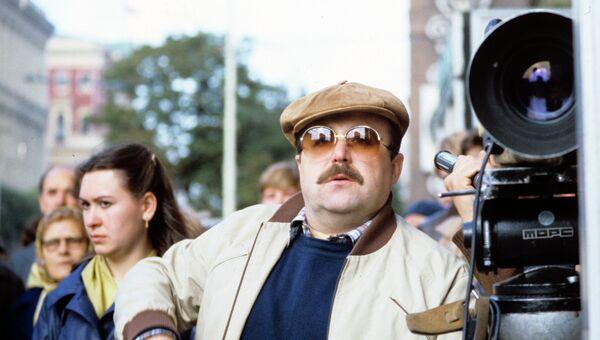 Актер Александр Калягин на съемках фильма