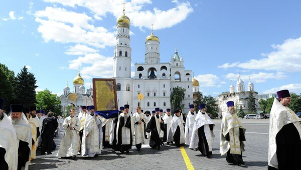 Патриаршее Богослужение в день памяти Кирилла и Мефодия. Архивное фото