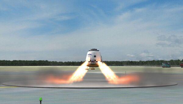 В будущем SpaceX планирует создать корабль с наземной посадкой