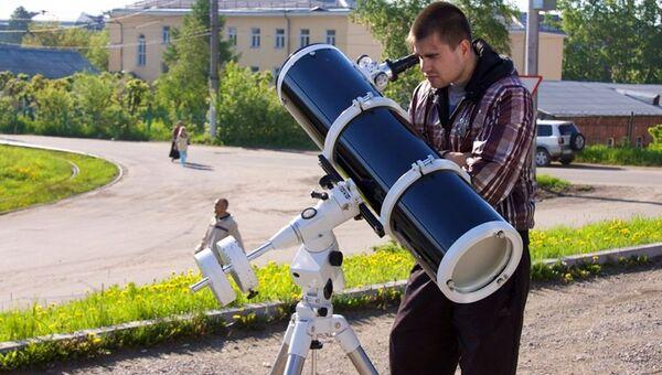 Прохождение Венры по диску Солнца. Съемка через телескоп