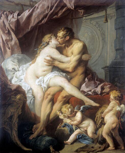 Репродукция картины Ф. Буше Геркулес и Омфала
