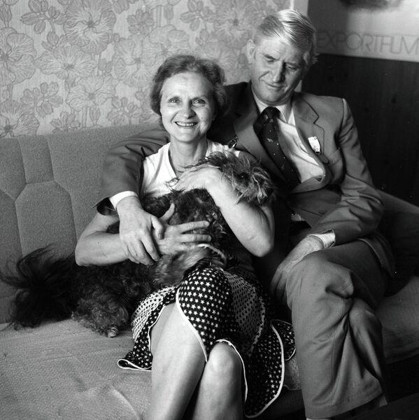Режиссер Вячеслав Котеночкин с женой