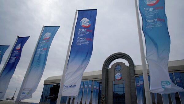 Подготовка к открытию ПМЭФ - 2012