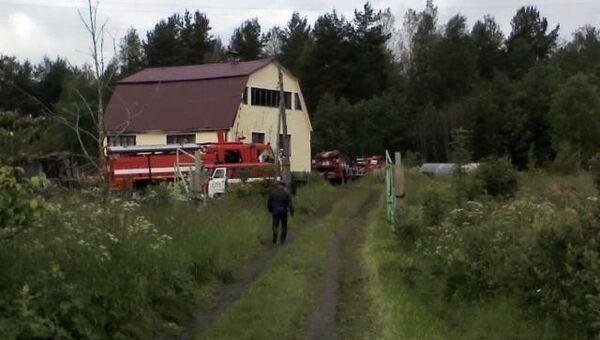 Истребитель, разбившийся в Карелии, упал в 100 метрах от жилого дома