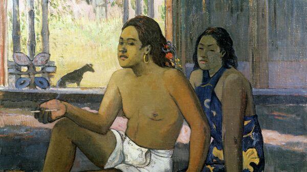 Картина Таитяне в комнате