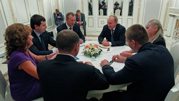 В.Путин встретился с представителями Брянской области
