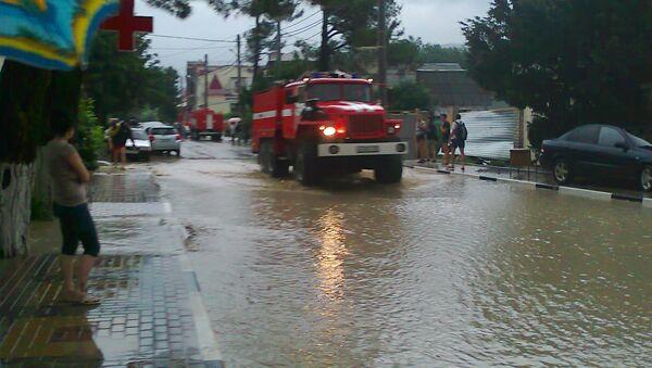 Последствия наводнения в селе Дивноморское