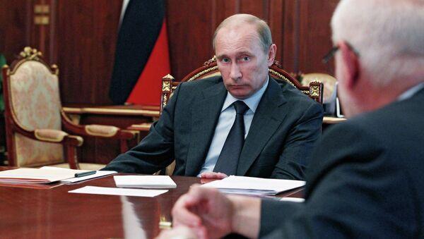 Встреча В.Путина с М.Федотовым, В.Лукиным и Б.Титовым