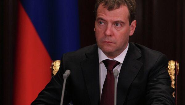 Премьер-министр Д.Медведев. Архивное фото