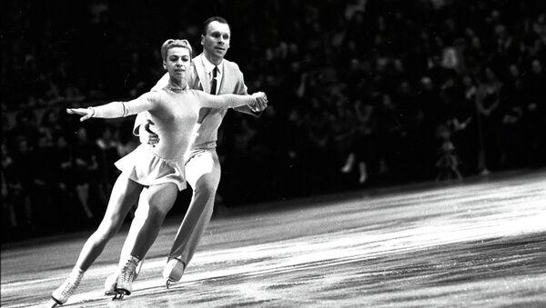 Людмила Белоусова и Олег Протопопов, советские фигуристы, чемпионы ОИ в Инсбруке. Архивное фото