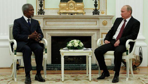 В.Путин встретился с К.Аннаном