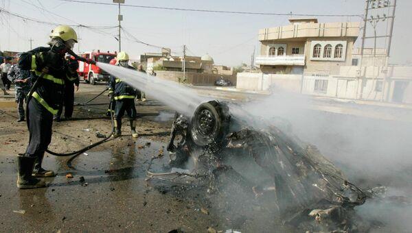 Заминированный автомобиль взорвался в городе Киркук на севере Ирака