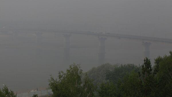 Смог от лесных пожаров в Томске
