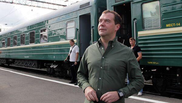 Рабочая поездка Д.Медведева по Сибири
