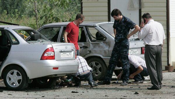 Взрыв у полицейского блокпоста в Грозном