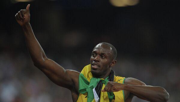 Ямайский спортсмен Усэйн Болт. Архив
