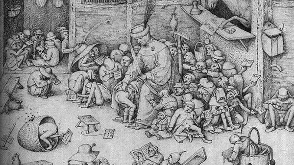 Питер Брейгель старший. Наказание в школе (1556)