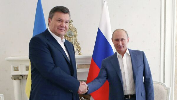 Президент РФ Владимир Путин и президент Украины Виктор Янукович. Архив
