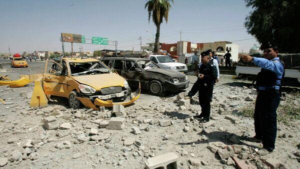 На месте взрыва в иракском Киркуке. 9 сентября
