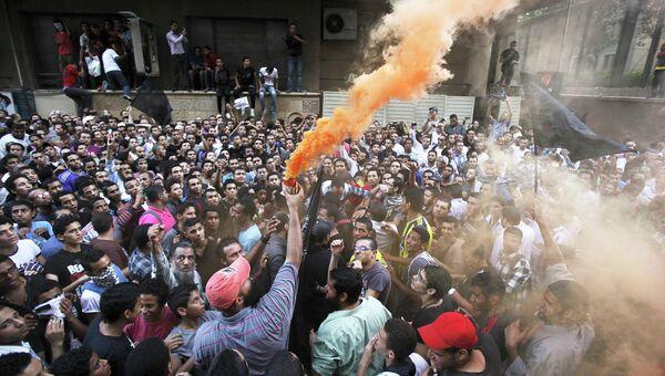 Акция протеста у здания посольства США в Каире, Египет