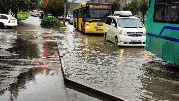 Владивосток после тайфуна Санба