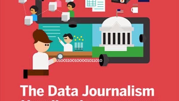 Обложка сборника эссе по журналистике данных The Data Journalism Handbook