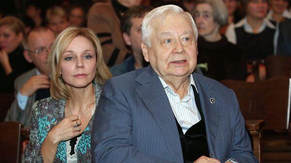 Олег Табаков и актриса Марина Зудина