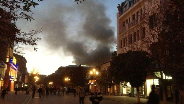 Пожар в здании ТЮЗа в Саратове