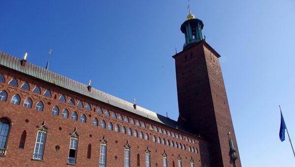 Стокгольм. Ратуша, где проходит вручение нобелевских премий. Архивное фото
