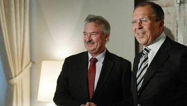 Министр иностранных дел РФ Сергей Лавров и глава МИД Люксембурга Жан Ассельборн. Архивное фото