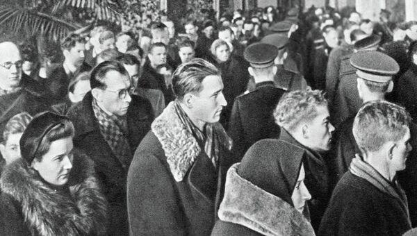 Жители Москвы в 1953 году