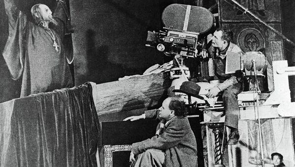 Съемки фильма Иван Грозный. Архивное фото