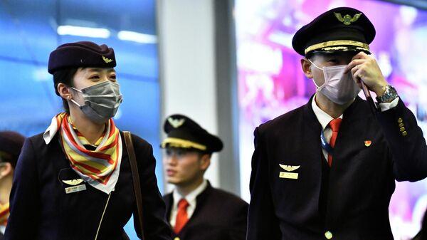 Экипаж международного авиарейса из Китая