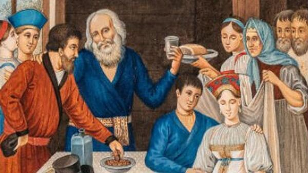 Петров А. Крестьянская свадьба. 1817 год