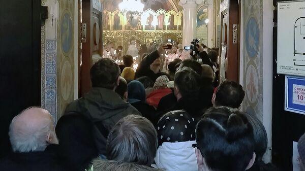 Отпевание протоиерея Всеволода Чаплина в храме святого Феодора Студита у Никитских ворот