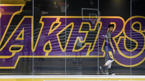 Баскетболист Лос-Анджелес Лейкерс Дэнни Грин в тренировочном центре команды