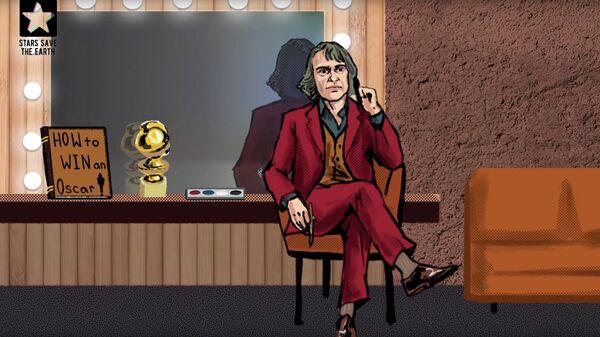Скриншот пранка с Хоакином Фениксом (Джокер) и Руни Мара