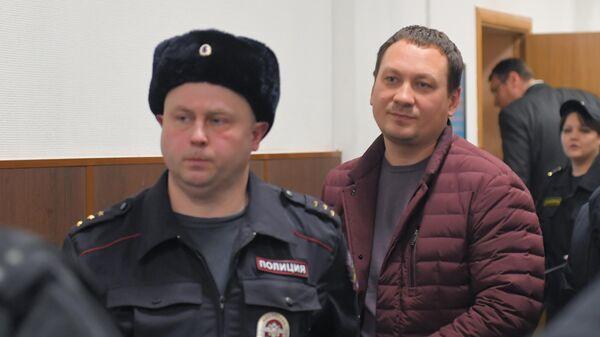 Бывший начальник УМВД по Западному округу Москвы Игорь Ляховец на заседании Басманного суда города Москвы