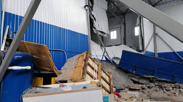 Место происшествия на заводе резиновых изделий в Мценске Орловской области. 31 января 2020
