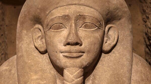 Cаркофаг, обнаруженный на археологическом объекте в провинции Минья. 30 января 2020