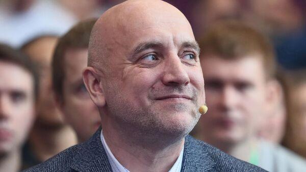 Основатель политической партии За правду, писатель Захар Прилепин на учредительном съезде партии в Москве